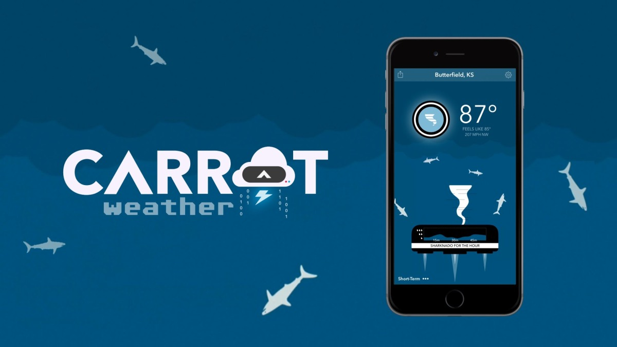 Carrot Weather: the rudest, funniest and most accurate weather app